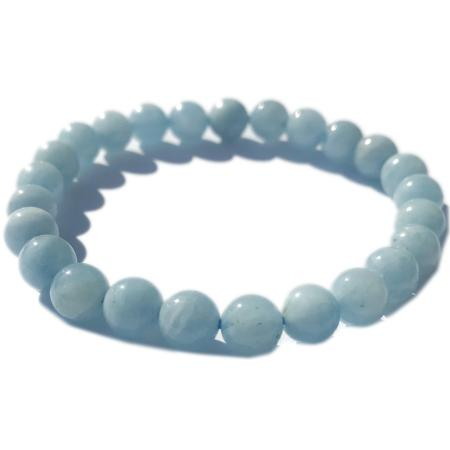 Bracelet aigue marine (boules de 5-6mm)