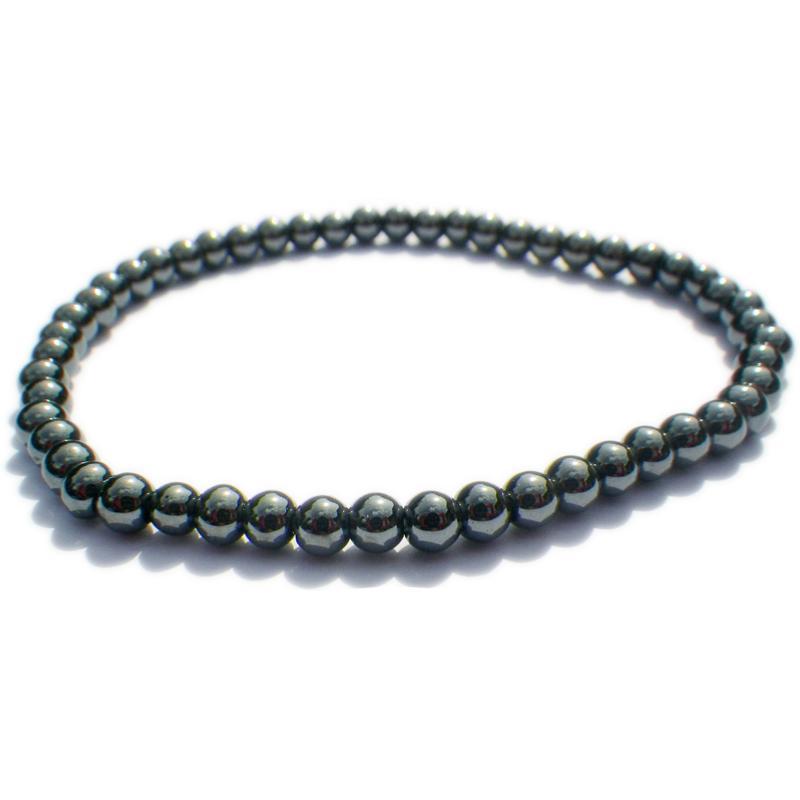 Bracelet pierre Hématite 4mm lithothérapie 1