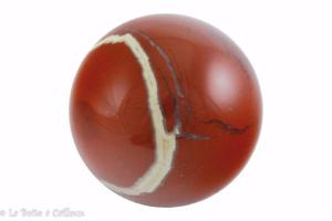 Boule jaspe rouge - 40mm