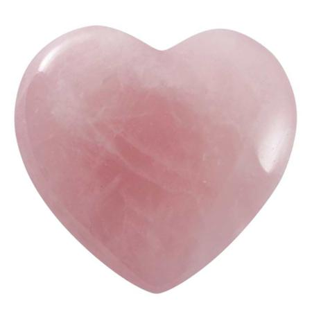Coeur Quartz rose 40mm