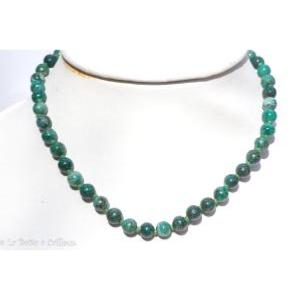 Collier Chrysocolle extra (boules 8mm) - 45cm