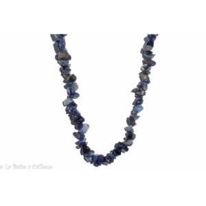 Collier sodalite (pierres baroques) - 45cm