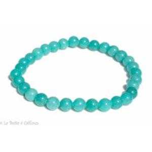 Bracelet amazonite Russie Extra (boules 5-6mm)