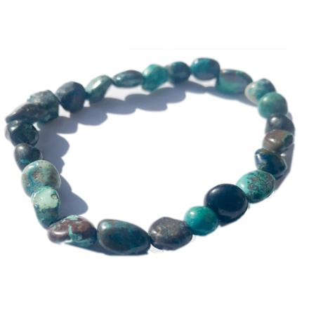 Bracelet chrysocolle (grains 5-7mm