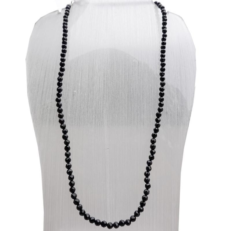 collier noir homme perle