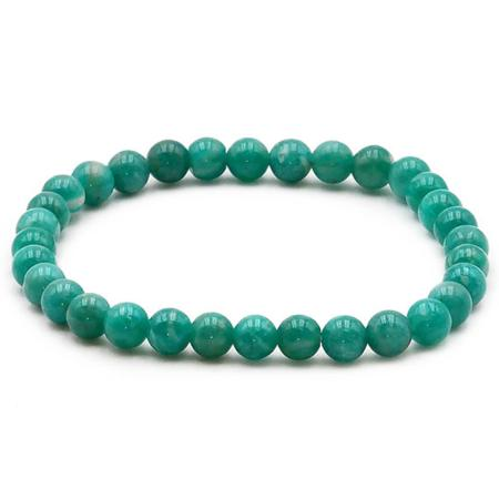 Bracelet amazonite Russie AA (boules 5-6mm)