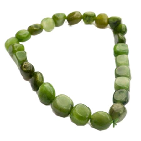 Bracelet jade du Canada (grains 5-7mm)