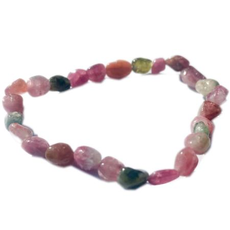 Bracelet tourmaline multicolore (grains 5-7mm)