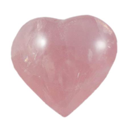 Coeur Quartz rose 30mm