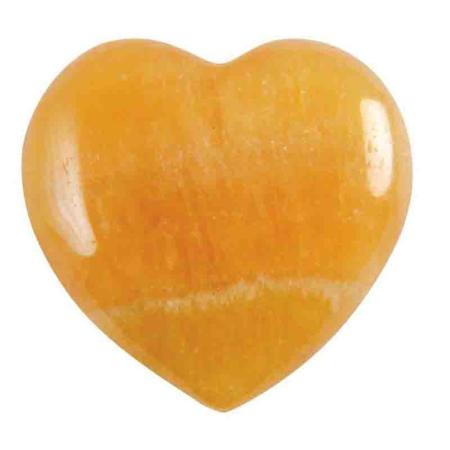 Coeur Calcite orange 40mm