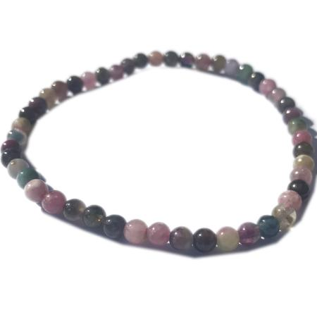 Bracelet tourmaline multicolore (boules 3-4mm)