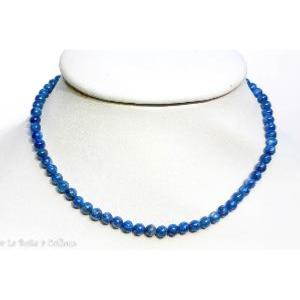 Collier cyanite Extra (boules 6mm) - 42cm à 48cm