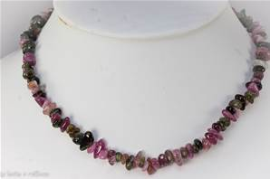 Collier tourmaline multicolor (pierres baroques) - 45cm