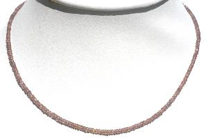 Collier grenat miel (hessonite) qualité Extra - 46cm