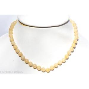 Collier calcite orange (boules 8mm) - 45cm