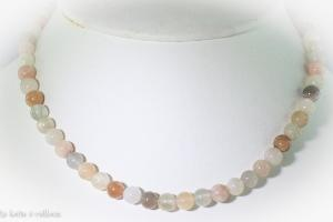 Collier agate naturelle (boules 5-6mm)