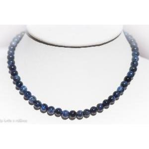 Collier sodalite (boules 8mm) - 45cm