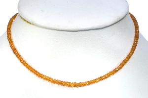 Collier grenat orange qualité Extra - 40cm