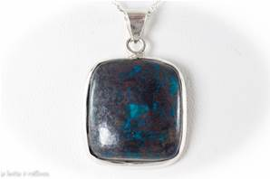Pendentif Chrysocolle argent 925