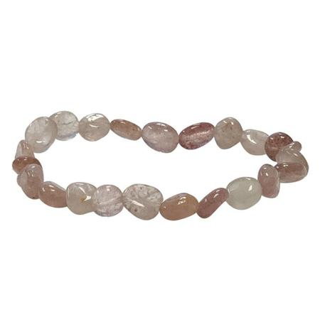 Bracelet quartz hématoide A (grains 5-7mm)