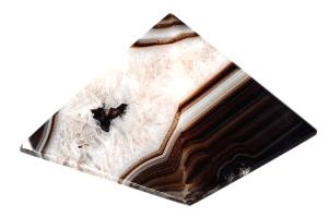 Pyramide agate (base 65mm)