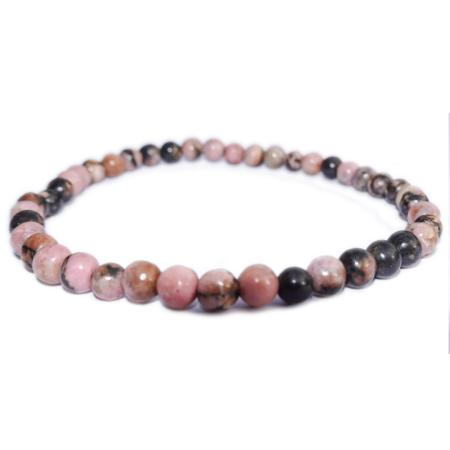 Bracelet rhodonite (boules 3-4mm)