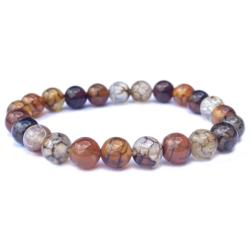 Bracelet agate veine de dragon (boules 7-8mm)